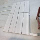 Прямая линия белый деревянный мрамор белизны вены