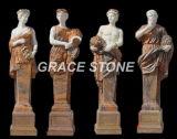 Dieu quatre saisons, sculpture en pierre, statue en marbre (GS-GS-004)