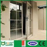De Schuifdeuren van het aluminium met Aangemaakt Glas, het Venster van het Aluminium