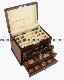 Boîte-cadeau en bois lustrée de bijou de bois de rose