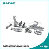 La línea de polo de hardware y conexiones de tubería de tendido eléctrico