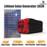 270wh mini generador solar portable de la energía con el sistema solar del panel fuera de la rejilla