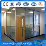 Дверь качания Frameless офиса стеклянная с алюминиевым следом
