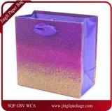 Bolso de papel del regalo del brillo, bolsa de papel hermosa del diseño, bolsa de papel que hace compras, bolsa de papel de Kraft. Bolso del regalo