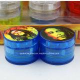 4 delen 30mm de Mini Acryl Harde Plastic Molen van de Tabak van Marley van het Loodje van Jamaïca van de Molen van Reggae van de Molen van het Kruid van de Tabak