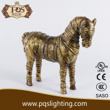 2014 nuovo Product Resin Gold Horse per Decoration (P0009XA)