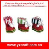 クリスマスの装飾(ZY14Y149-1-2-3-4)のクリスマスのブートの靴のパッキングブート