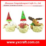 Корзина цветка Wicker корзины рождества корзины подарка Kep рождества украшения рождества (ZY11S84-1-2)