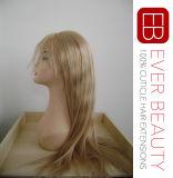 バージンのブラジルのインドの人間の毛髪を搭載する最もよく長く完全なレースの毛のかつら