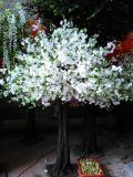 10f Árvore de flor de cereja artificial branca para decoração de casamento
