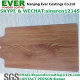 Madera de la textura de acabado de recubrimiento en polvo