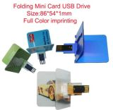 Populäres Geschenk, das grelle Laufwerk-Karte USB-Platte (PZC201, faltet)