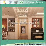 Elegante com teto geado textura do metal para linhas interiores e ao ar livre da prata da decoração em quatro lados