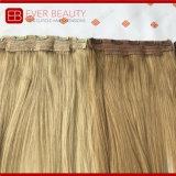 自然なカラーインドのバージンの毛のよこ糸のフリップのクリップ