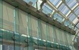 Mur rideau en verre de vue en aluminium (verre feuilleté) pour la construction, bureau