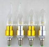 명확한 유백색 커버 유리를 가진 E14 C35 3014SMD 6W LED 초 빛