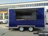 De 2-as van de fabrikant Aanhangwagen Van uitstekende kwaliteit van het Voedsel van de Muur de Zij
