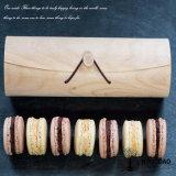 Doos van Macaron van de Schors van Hongdao de Houten met Desing Logo_C