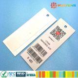 Escrituras de la etiqueta modificadas para requisitos particulares de la ropa de la frecuencia ultraelevada RFID del papel de precio competitivo de los diseños