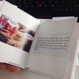 Книжное производство миниого карманного случая книга в твердой обложке куртки пыли связанное