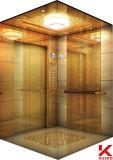 飾られた大理石の床が付いているホテルのエレベーター