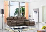 con il sofà di cuoio imposta la mobilia manuale di funzione per il salone utilizzata