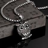 De hete Juwelen van de Manier van de Halsband van de Tegenhanger van de Vorm van de Uil van de Halsband van het Staal van de Verkoop 316L