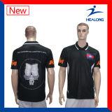 Gewatteerde Sportkleding van de Verkoop van Healong de Hoogste en het Overhemd van het Polo van de Mensen van het Borduurwerk