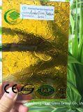 Ce/ISO (3-8mm)를 가진 호박색 식물상 장식무늬가 든 유리 제품