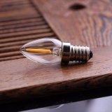 Blanco caliente LED de C7 Edison del bulbo retro del filamento de la lámpara 0.5W