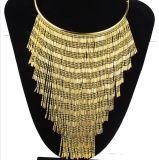 금에 의하여 도금되는 사슬 술 형식 목걸이 (XJW13694)