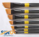 Brosse de peinture d'artiste pour l'acrylique, l'huile, les aquarelles (SF-09055)