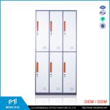 Mingxiu 강철 사무용 가구 소폭 가장자리 6 문에 의하여 사용되는 강철 로커 내각/수영 로커