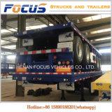 Cimc 20FT 40FT 3 Aanhangwagen van de Vrachtwagen van de Container van Assen Flatbed