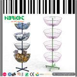 Estantes redondos giratorios del soporte de los estantes de visualización de los juguetes del alambre del hilandero