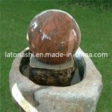 庭/テラスのための花こう岩Round Stone Fountain Floating Sphere/Ball