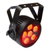 6X12W RGBWA UV Slim LED PAR Can Stage Light avec boîtier moulé en aluminium pour Disco, Vidéo, Film, Studio TV