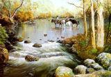 Het waterdichte Glanzende Digitale Afgedrukte Canvas van de Kunst van de Polyester voor Kleurstof en Pigment