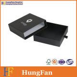 Cassetto nero di lusso che fa scorrere il contenitore di imballaggio del documento del braccialetto di Neckles