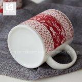 Taza de café de cerámica de consumición estacional de Navidad taza/12oz