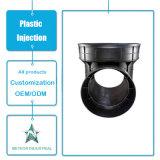 Kundenspezifisches Plastikspritzen-Produkt-industrielle Teil-Plastikquerrohrfitting