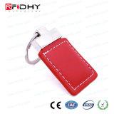 Couro personalizado 125kHz key fob via RFID para controle de acesso