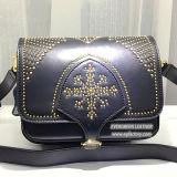 La mujer bolsos de cuero original tachonado señoras bolso Gga5301