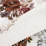 Ткань 2018 бархата с цветком печати для софы (FEP019)