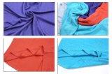 1/2 Wemonの麻布の袖の夏の緩いV首のTシャツ