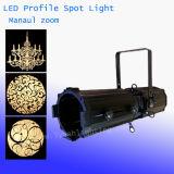 300W de alta potencia LED Studio etapa perfil de luz con el zoom manual