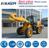 Eoguem Zl28 hohe Leistungsfähigkeit 2.8 Tonnen-Rad-Ladevorrichtung mit Ladeplatten-Gabel (2800kg)