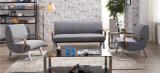 Ocio moderno de acero inoxidable Recepción Home sofá de cuero de PU