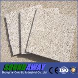 El panel acústico incombustible de las lanas de madera de la pared interior