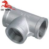 L'égalité bagués Fonte malléable galvanisé le raccord de tuyau en acier inoxydable de raccord en T
